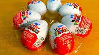 getlinkyoutube.com-7 Kinder Surprise Eggs