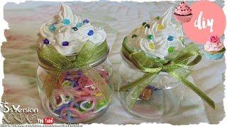 Tutorial: Barattoli Decorati con Silicone - Effetto Panna - Mini Jar decorated with Silicon