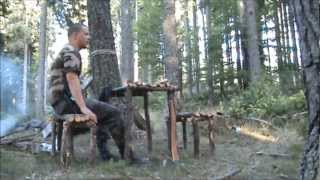 getlinkyoutube.com-making camp table and bench