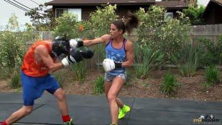 getlinkyoutube.com-Female Boxer Knocks out Sports Host (Team USA: Olympic Boxer Danyelle Wolf)