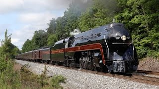 getlinkyoutube.com-N&W 611 On The Hilltop Grade - Greensboro NC 30 MAY 2015