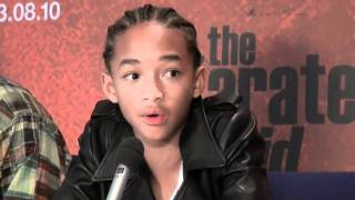 getlinkyoutube.com-The Karate Kid (2010) Jaden smith, and Family, Press Conference in Norway Part 3