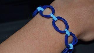 "getlinkyoutube.com-Bracelet Rainbow Loom ""Forme"" Anneaux"