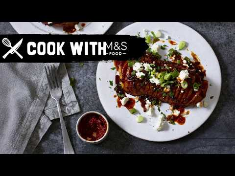 M&S | Cook With M&S... Sweet & Sticky Harissa Roasted Squash