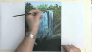 getlinkyoutube.com-Painting A Waterfall With Acrylics