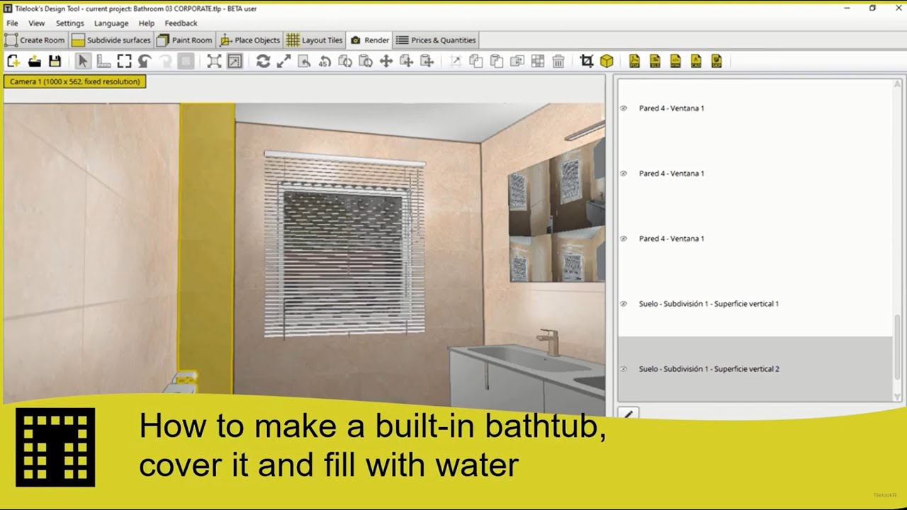 How to make a built in bathtub with external tiling