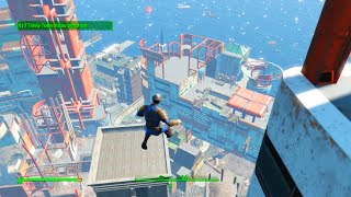 getlinkyoutube.com-FALLOUT 4 Jumping Off the Highest Building!