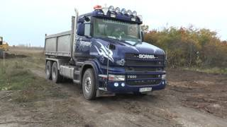 getlinkyoutube.com-Scania T500 V8 and Volvo FH 12 is loaded by a Åkermans H5M 2013