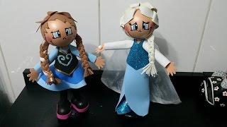 getlinkyoutube.com-Como fazer a Rainha Elsa em eva 3d do filme frozen DIY