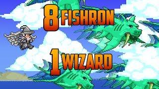 getlinkyoutube.com-Terraria - 8 Fishron bosses vs 1 Merlin (Bug)