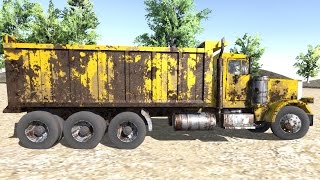 getlinkyoutube.com-Unity - Dump Truck With Deforming Tires Test ( Truss Physics )