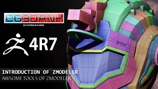 ZBRUSH 4R7 TUTORIAL - USE OF ZMODELER (DETAIL)