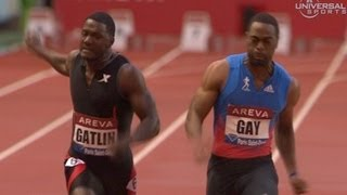 getlinkyoutube.com-Tyson Gay chases down Gatlin for 100m win - from Universal Sports