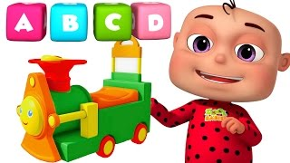 getlinkyoutube.com-ABC Train Song For kids | Alphabet Train With Five Little Babies | Five Little babies Collection