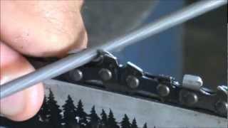 getlinkyoutube.com-How to sharpen a chainsaw