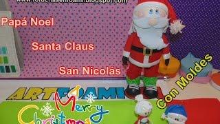 getlinkyoutube.com-Fofucho Papá Noel, Santa Claus, San Nicolás,Adorno Navideño con Moldes