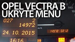 getlinkyoutube.com-Ukryte menu Opel Vectra B (komputer pokładowy, zestaw wskaźników)