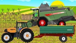 getlinkyoutube.com-☻ Maize - Farmers Works | Rolnik i Kukurydza | Bajki Traktory ☻