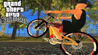 getlinkyoutube.com-Gta sa- role em los santos com bike rebaixada na fixa do reggae