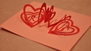getlinkyoutube.com-How to make a Valentine's Day Pop Up Card: Spiral Heart