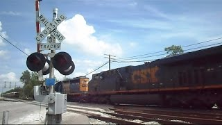getlinkyoutube.com-Railroad Crossing Malfunctions As Train Is Passing Through