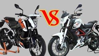 Benelli TNT25 vs KTM Duke 200 Specifications Comparison