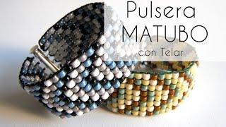 getlinkyoutube.com-Abalorios - Pulsera Matubo ancha con Telar