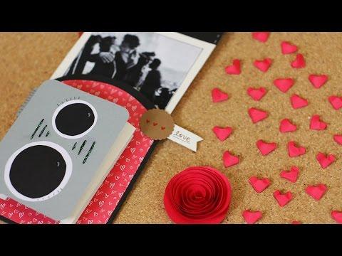 Cámara retro / tarjeta de San Valentín - manualidad de papel
