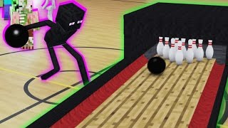 getlinkyoutube.com-Monster School in Real Life Episode 10: Bowling - Minecraft Animation