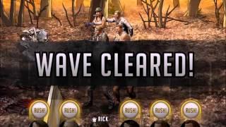getlinkyoutube.com-Walking Dead : Road to Survival - Level 16 North Georgia Woods Zone - Stage 6