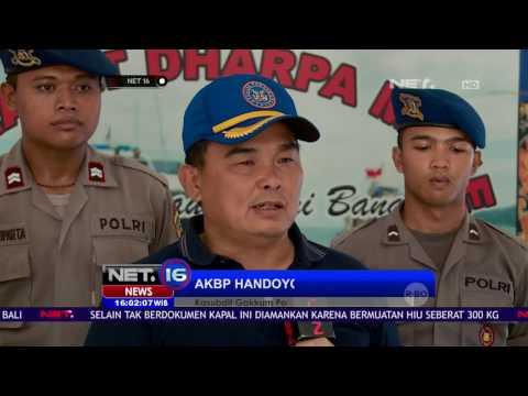 Petugas Keamanan Laut di Balai Amankan Kapal Bermuatan 300kg Daging Hiu Tanpa Dokumen - NET16