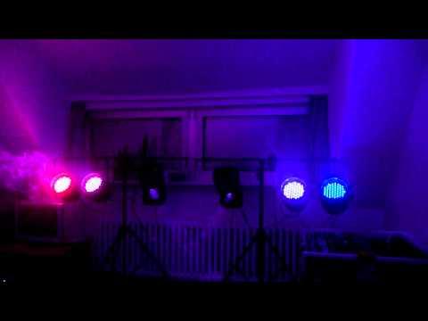 4 x Stairville LED Par 64 + 2 x Eurolight LED TSL 100 Lightshow