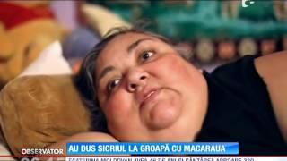 Cea mai grasă femeie din România a fost înmormântată cu ajutorul unei macarale