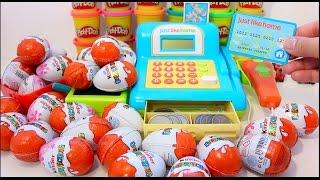 getlinkyoutube.com-Cash Register Kinder Surprise Eggs Toys Finding Dory Shop Market Playset Toys For Kids