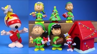 getlinkyoutube.com-Peanuts Christmas Just Play 7 Figure Set Snoopy Charlie Brown Toys Peanuts Movie Trailer Special