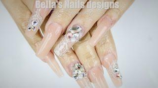 getlinkyoutube.com-UÑAS ACRILICAS: Glamurosas / Glamorous Nails - Propuesta para despedir el año.