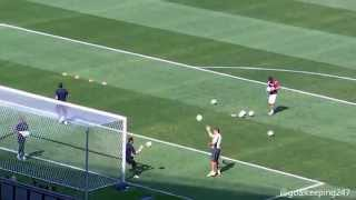 getlinkyoutube.com-England vs Costa Rica   Goalkeeper Warm up   FIFA World Cup   Belo Horizonte   Full Video