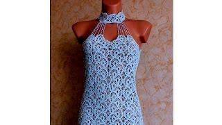 getlinkyoutube.com-Платье из ленточного кружева крючком
