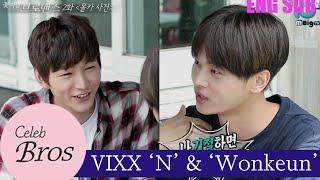 "getlinkyoutube.com-VIXX N & Wonkeun, Celeb Bros S7 EP2 ""Hidden Camera Incident"""