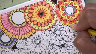 getlinkyoutube.com-Secret Garden Postcard (Fast forward coloring July 7, 2015)
