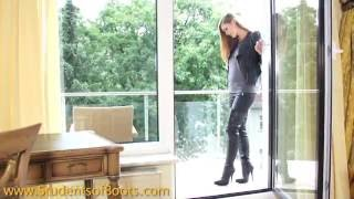 getlinkyoutube.com-thigh boots and leather jacket