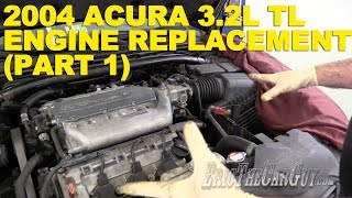getlinkyoutube.com-2004 Acura 3.2L TL Engine Replacement (Part 1)