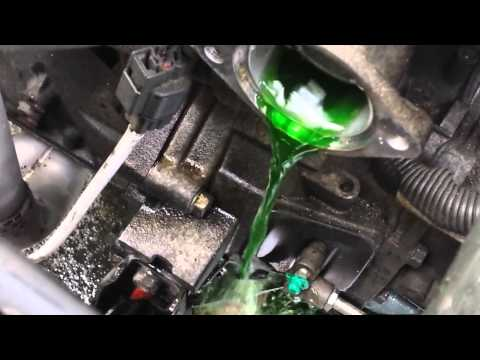 How to flush radiator, replace t-stat, hoses Mitsubishi Lancer