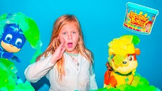 BOOGER BALLS Assistant Slime Experiemnt with Paw Patrol and PJ Masks Science Experiment Surprise Vid