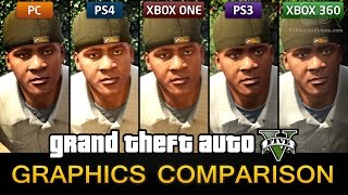 getlinkyoutube.com-GTA 5 Graphics Comparison - PC / PS4 / Xbox One / PS3 / Xbox 360