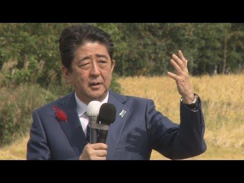 自民党・安倍総裁が第一声 衆院選公示、22日投開票...