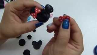 getlinkyoutube.com-caritas de minie mouse en botones para decorar moños, lazos flores para el cabello
