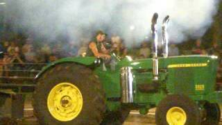 John Deere 5020 pulling at the Infamous Wyoming Tractor Pull