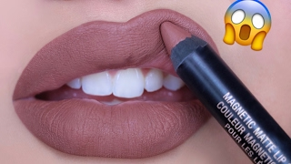 getlinkyoutube.com-LIQUID LIPSTICK IN A PENCIL?!!!😱 NEW Nudestix Magnetic Matte Lip Colors | Swatch & Review