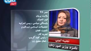 TOLOnews 12 January profiles of NUG cabinet nominees / اعلام اسامی نامزد وزیران کابینه